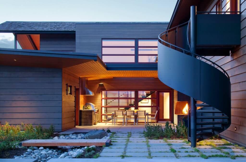 Подобрать гармонию цвета крыши и дома