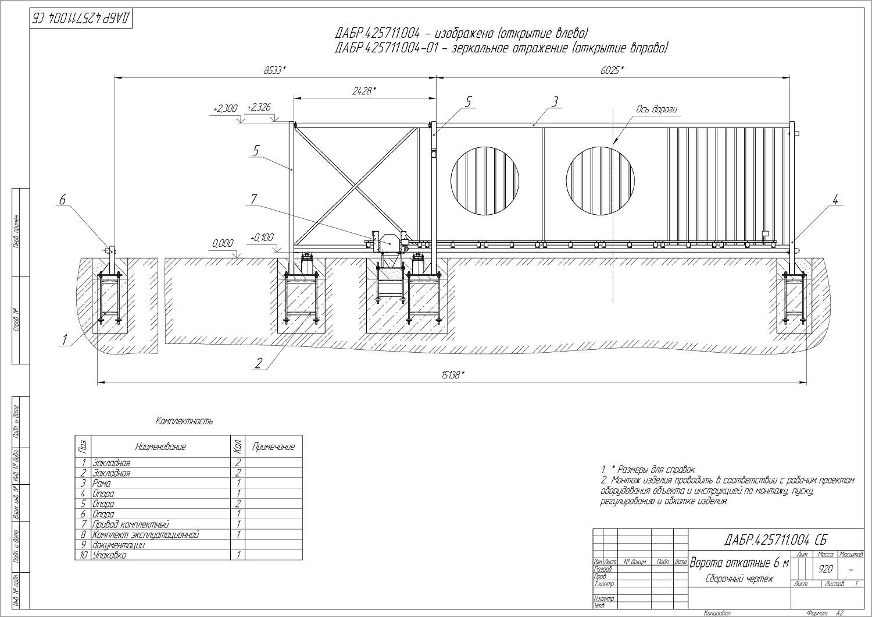 Пошаговая инструкция: как сделать откатные ворота с калиткой своими руками