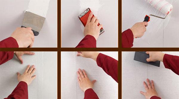 Пошаговая инструкция по правильному наклеиванию стеклообоев