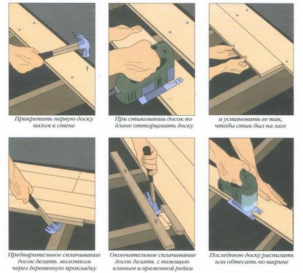 Пошаговая инструкция по самостоятельному монтажу деревянного пола
