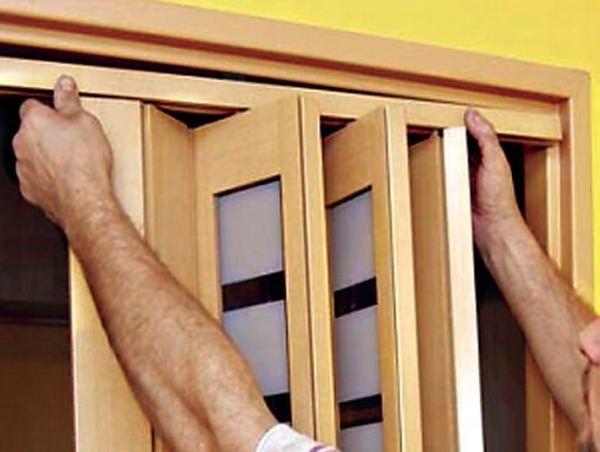 Пошаговая инструкция по установке двери-гармошки