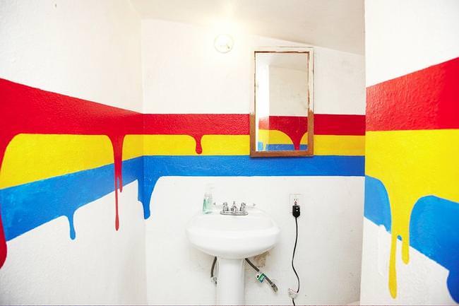 Правильная покраска стен в ванной