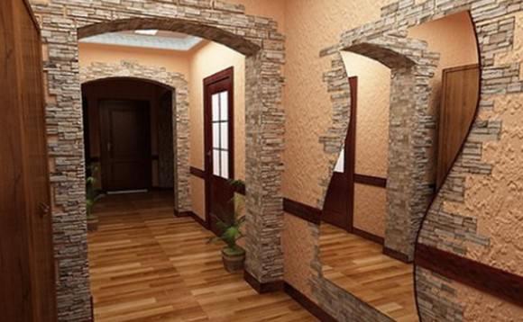 Примеры использования искусственного камня в интерьере с фото