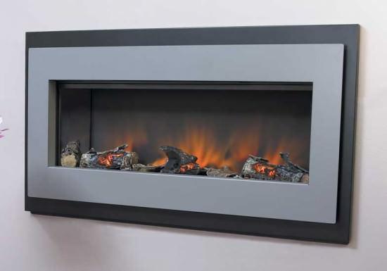 Разновидности электрических каминов с эффектом живого пламени