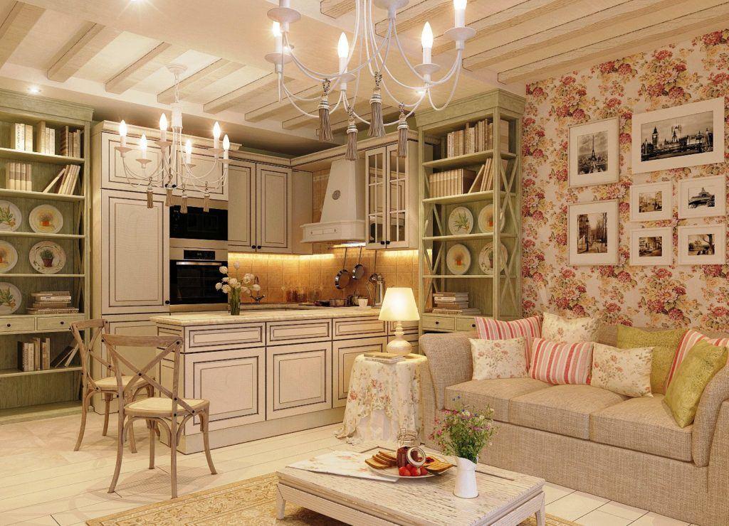 Секреты оформления кухни-гостиной в стиле прованс