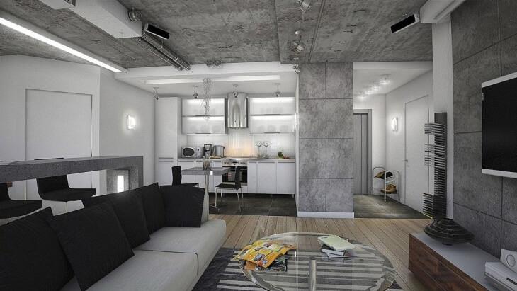 Штукатурка под бетон и обработка бетонных стен