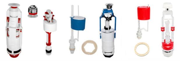 Сливной бачок унитаза с кнопкой и с нижним подводом воды: устройство, виды поломок и ремонт