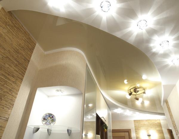 Советы по выбору светильников для натяжных потолков, тип, бренд и цены
