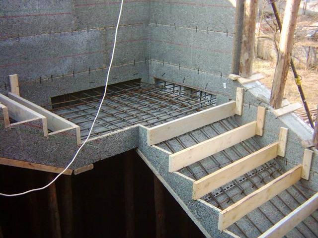 Создание лестниц из бетона, как это выглядит на практике