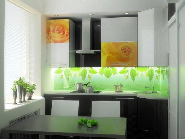 Средние цены на стеклянный кухонный фартук за метр, выбор фирмы