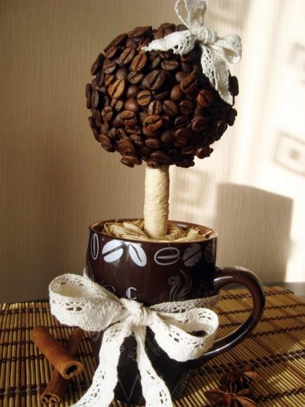 Топиарий или кофейное дерево своими руками