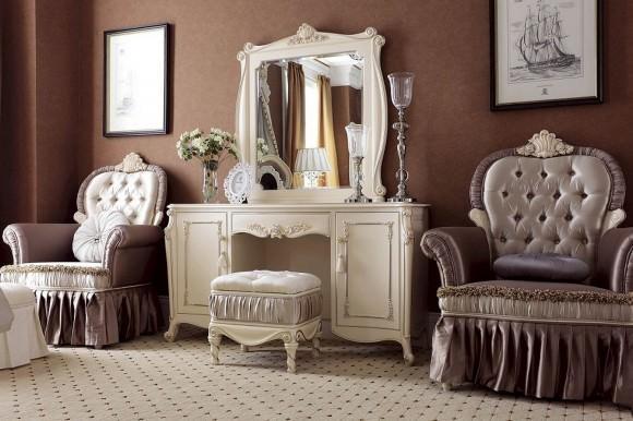 Трюмо с зеркалом в спальню: история, фото, выбор модели