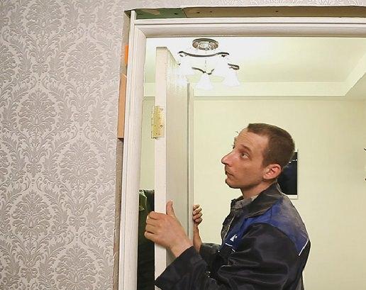 Устанавливаем межкомнатную дверь в квартире