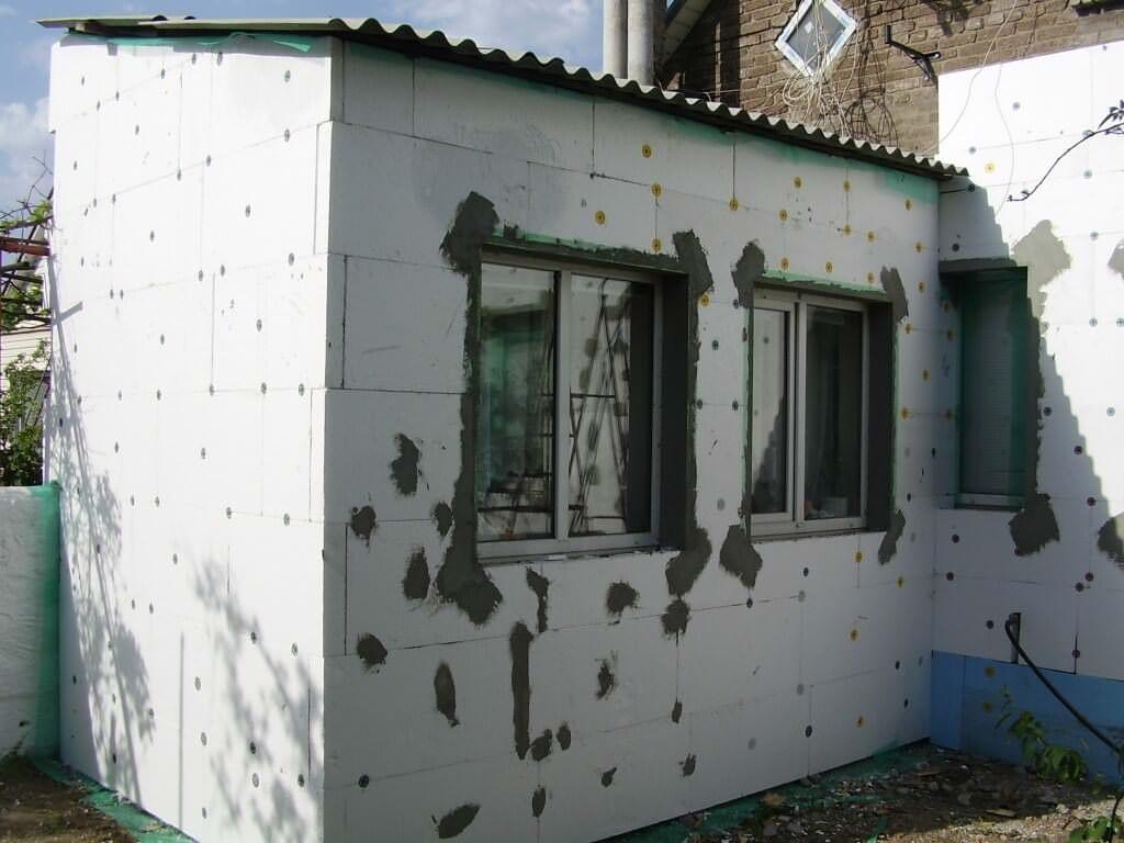 Утепление пенопластом фасадов
