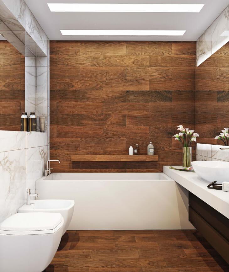 Ванна из дерева — уютная и оригинальная