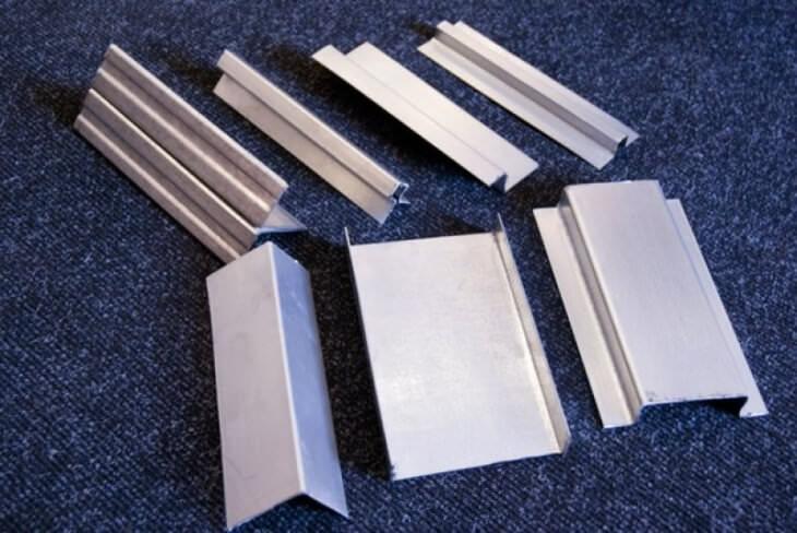 Виды алюминиевых профилей применяемых в строительстве и отделке мебели