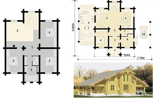 Выбираем проект деревянного дома из бревна