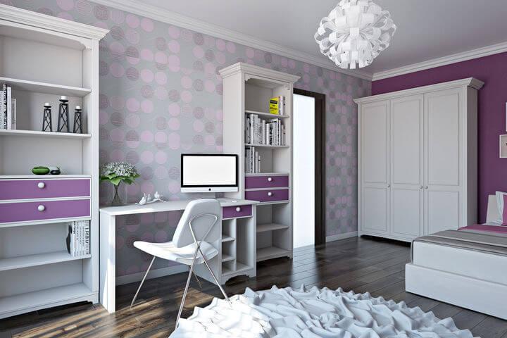 меблі в спальню для дівчинки підлітка 3d